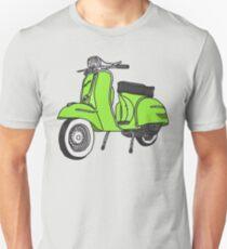 Vespa Illustration - Lime Unisex T-Shirt
