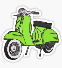 Vespa Illustration - Lime Sticker
