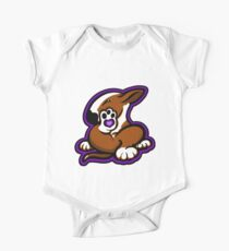 English Bull Terrier Kicking Back Brown and White  Kids Clothes