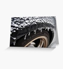 Tire Icicles Greeting Card