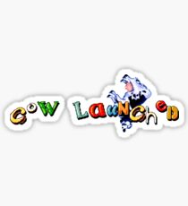 Earthworm Jim - Cow Launched Sticker