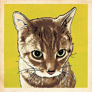 Tabby Cat Illustration by tcounihan