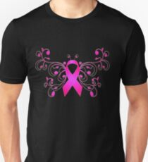 Breast Cancer Butterfly Ribbon T-Shirt