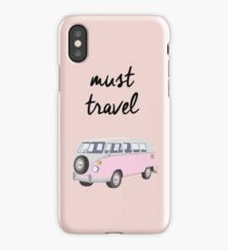 Must Travel Campervan Design iPhone Case/Skin