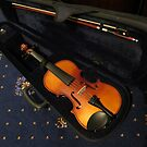 Violin and Bow in Case by BlueMoonRose