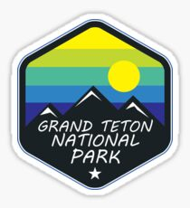 GRAND TETON NATIONAL PARK WYOMING HIKING CAMPING CLIMBING MOUNTAINS 3 Sticker