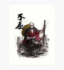 Captain Picard Samurai tribute Art Print