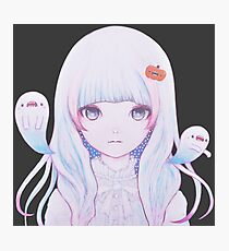 Ghost Girl☆Pumpkin Photographic Print