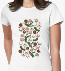 Christmas Treats and Cookies Womens Fitted T-Shirt