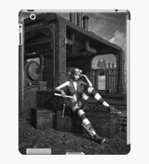 Steampunk Blaze BW iPad Case/Skin