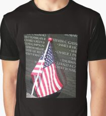 Flag For Fallen Soldier Graphic T-Shirt