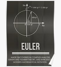 Euler - Mathematician Posters Poster
