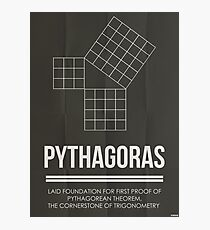 Pythagoras - Mathematician Posters Photographic Print