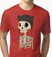 Skeleton Kitty Tri-blend T-Shirt