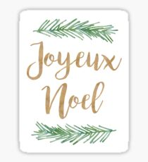 Joyeux Noel Christmas Quote Sticker