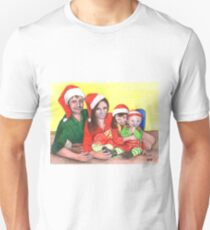 Caskett family at Christmas Unisex T-Shirt