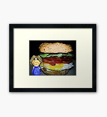 """MISS PIGGY SAYS """"THIS LOOKS GOOD..BUT I'M NOT CRAZY ABOUT ONE INGREDIENT LOL""""..CAN U GUESS WHAT THAT MIGHT BE?? OINK OINK - PICTURE - CARD Framed Print"""