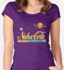 Nukacola Quantum Modern Redesign Women's Fitted Scoop T-Shirt