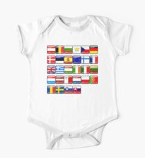 European Flags, Button Flags, EU, Europe Kids Clothes