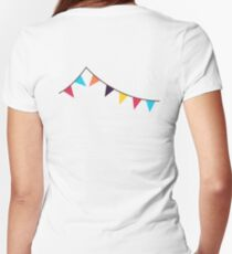 Bunting, Flags, Party, Celebration Women's Fitted V-Neck T-Shirt