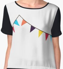 Bunting, Flags, Party, Celebration Chiffon Top