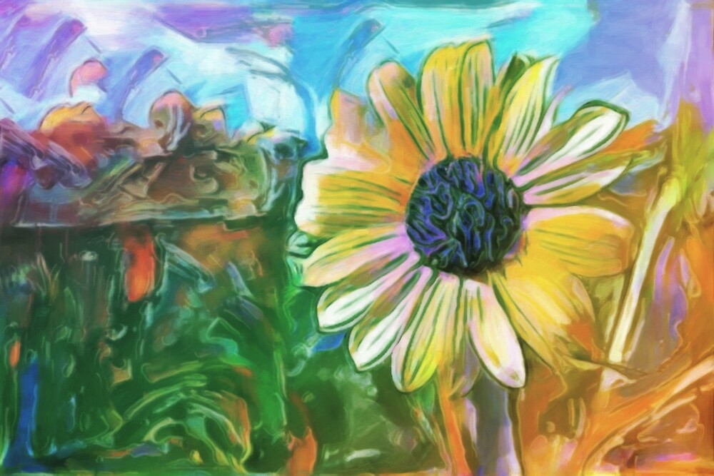 Foreground Flower by John Patsfield