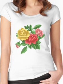 Just Roses Women's Fitted Scoop T-Shirt