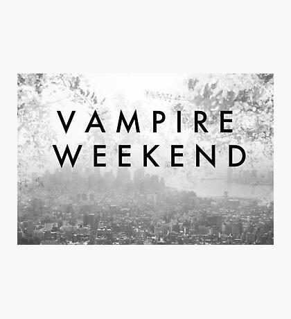 Vampire Weekend Poster Photographic Print