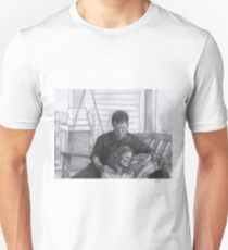 Castle and Beckett - Relax on the porch swing Unisex T-Shirt