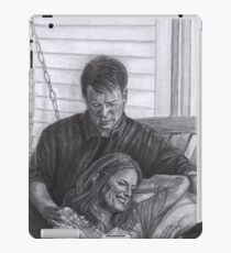 Castle and Beckett - Relax on the porch swing iPad Case/Skin