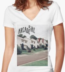 Arcade Fire Women's Fitted V-Neck T-Shirt