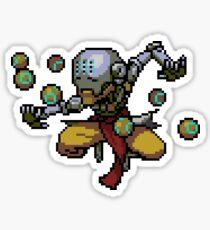 Zenyatta Pixel Spray Sticker