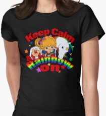 Keep Calm and Rainbow On (Dark) Women's Fitted T-Shirt