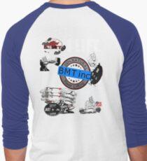 CHAOS.. BIG MUTHER TRUCKER POWERLIFTING STYLE Men's Baseball ¾ T-Shirt