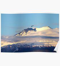 Eagle Over Mount Etna Poster