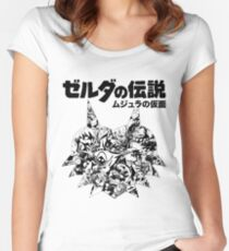 The Legend of Zelda - Majoras Mask (Japanese Classic Edition) Women's Fitted Scoop T-Shirt