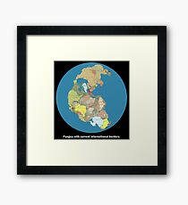 National Pangea Framed Print