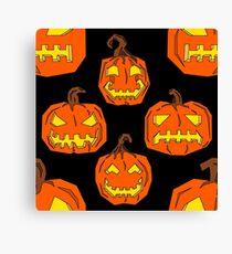 jack o lantern pattern Canvas Print