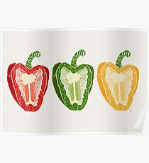 Mixed Peppers Poster