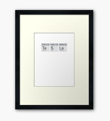 Periodic Tesla Framed Print