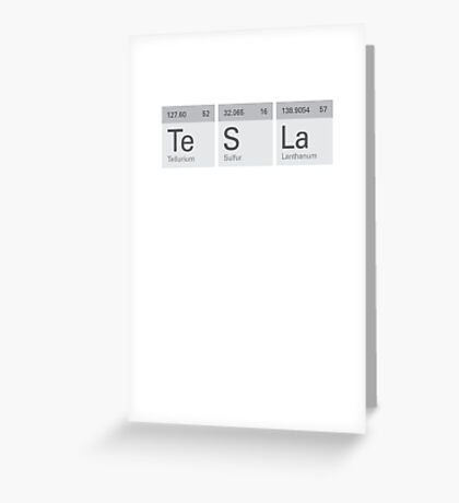 Periodic Tesla Greeting Card