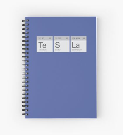 Periodic Tesla Spiral Notebook