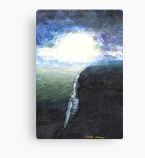 Ocean painting Blue Abstract seascape art  Canvas Print