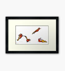 Superkid sequential art Framed Print