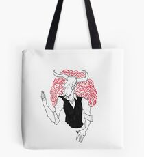 Gothic Gentleman - Cow Tote Bag