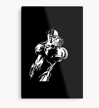 The Force by Grey Williamson (White) Metal Print