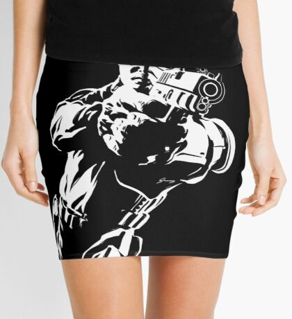 The Force by Grey Williamson (White) Mini Skirt