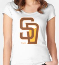 San Diego Baseball & Beer Women's Fitted Scoop T-Shirt