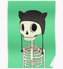 Skeleton Kitty Poster