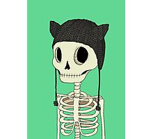 Skeleton Kitty Photographic Print